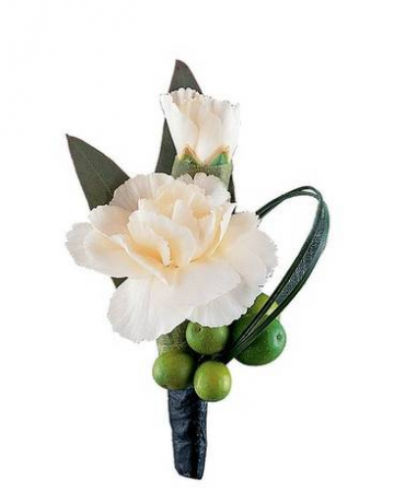 Carnation And Berries Boutonniere