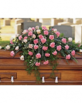 Carnation and rose Casket Spray-Any Colour Casket Spray