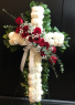 Carnation and Rose Cross Standing Spray