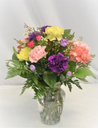 CARNATION BLISS FRESH FLOWERS VASED