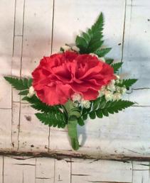 Carnation Boutonniere Prom Boutonniere