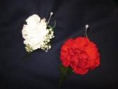Carnation Boutonnierre,  $4.50