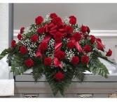 Carnation casket spray Carnation casket spray