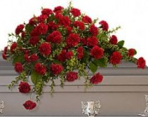 Carnation Casket Spray Select Colors