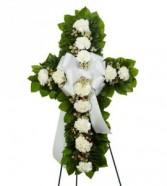 Carnation Cross Standing Spray