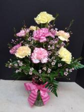 Carnation Crush Vase bouquet