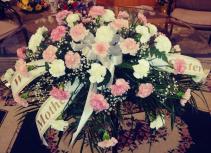 Carnation Floral  Casket Spray