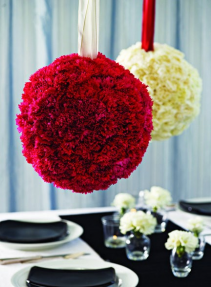 Flower Ball (choose color & quantity) See description for size & color details!!!
