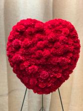 Carnation Heart on Standing Easel