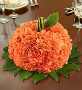 Carnation Pumpkin Centerpiece