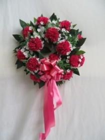 Carnation Silk Sympathy Wreath Silk Wreath