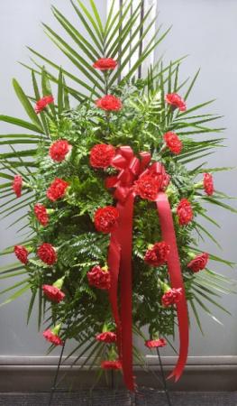 Carnation Standing Spray $90.95, $100.95, $110.95