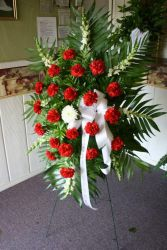 Carnation Standing Spray $85.95, $100.95