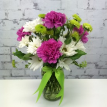 carnations and daisies Flower Vase