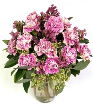Carnations - Classic Dozen Vase Arrangement in Invermere, BC | INSPIRE FLORAL BOUTIQUE