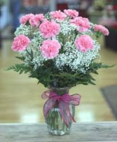 Carnations Choice of Color Vase