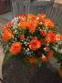 Carnival delight  Roses and spray roses arranged