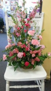 Pretty Basket of Pinks