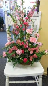 Pretty Basket of Pinks