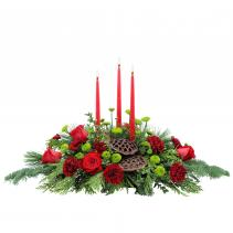 Carolina Carols Christmas Table Centerpiece