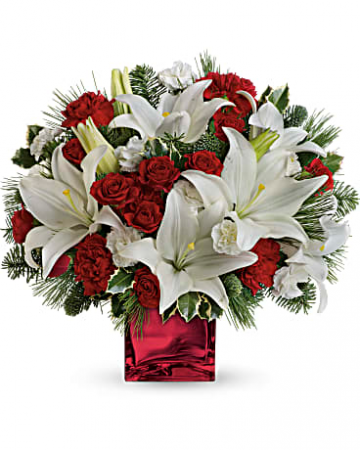 Caroling In The Snow Christmas Bouquet