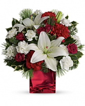 Caroling In The Snow vase