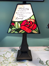 Carson Tiffany Memorial Lamp In Memory