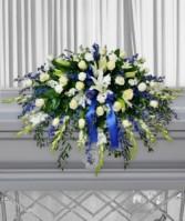 Carter Blue Casket Flowers