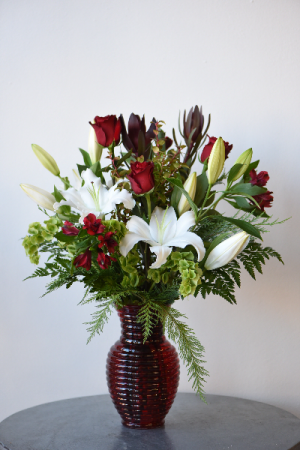 Casablanca Lilies and Roses  in La Grande, OR | FITZGERALD FLOWERS
