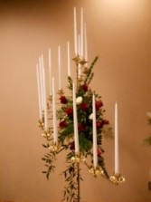 Cascade Candleabra Rental With Roses