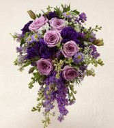 Cascade purples Bride bouquet