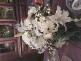 cascading bouquet calla roses lilies