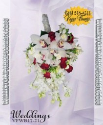 Cascading Bouquet Lavish 17-21 Wedding Bouquets