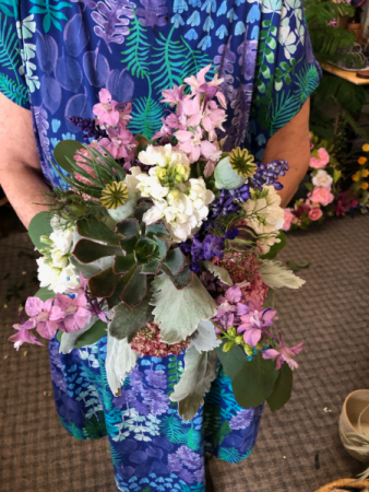California Dreaming Bouquet with Succulent