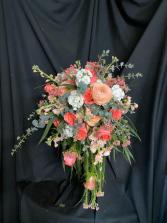 Cascading Coral Bridal Bouquet Bridal Bouquet
