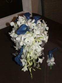 Cascading Hand Held Bouquet Prom Flowers