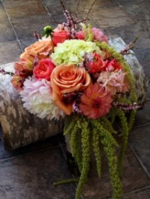 Cascading Passion Bridal Bouquet