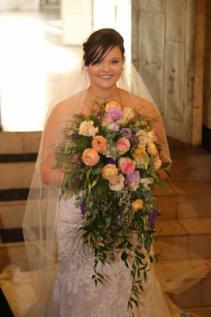 Cascading Pastel Petals Cascading Bridal Bouquet