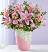 Cascading Rose Medely Flower Arrangement