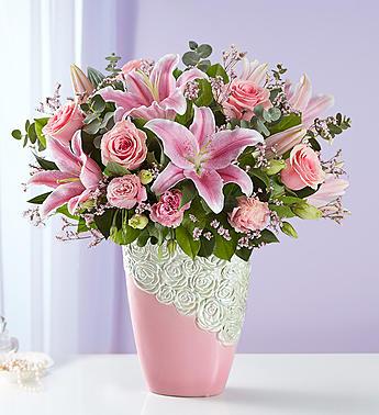 Cascading Rose Medley 1-800 Flowers Bouquet