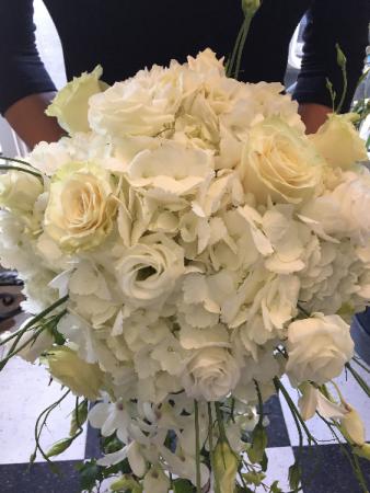 Cascading white bouquet in darien ct darien flowers cascading white bouquet mightylinksfo