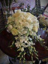 Cascading white bouquet Bridal bouquet