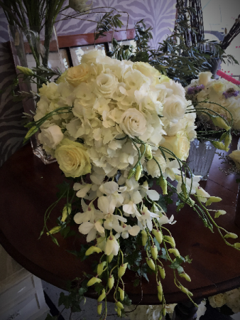 Cascading white bouquet bridal bouquet in darien ct darien flowers cascading white bouquet bridal bouquet mightylinksfo