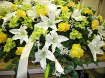 Lillies Of The Valley Casket Arrangement