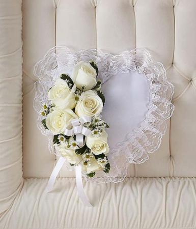 Casket Heart Pillow