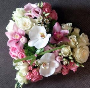 Casket heart Placed inside casket  in Ozone Park, NY | Heavenly Florist