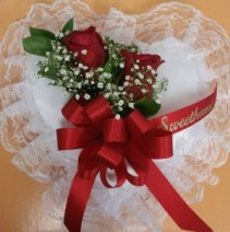 Casket pillow Heart with Roses