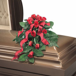 Casket Spray 12 Red Roses...Can have any color Rose if in stock