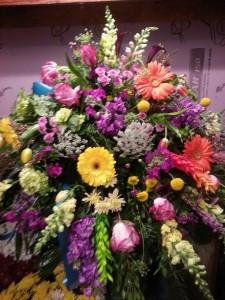 casket spray funeral piece