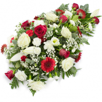 Spray  in reds and whites Standing /Casket  Spray